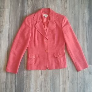 Talbots Orange Tweed Blazer, Size 8